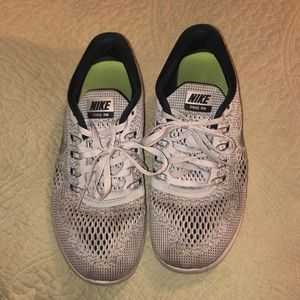 Nike black and gray athletic shoes size 8